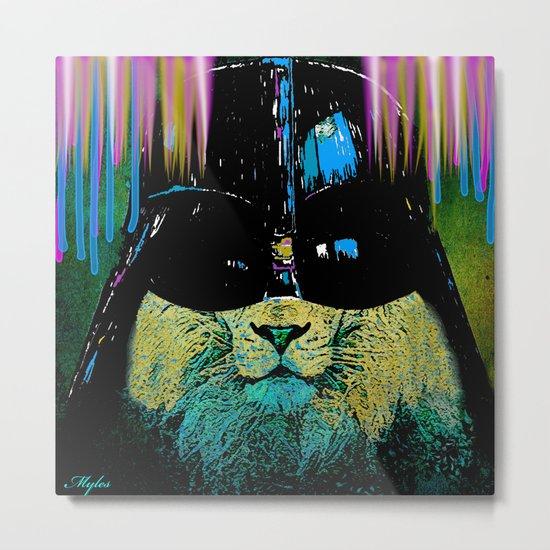 DARTH LION HIPSTER Metal Print