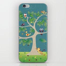 tree of birds iPhone Skin