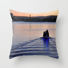 Boat man Throw Pillow