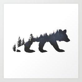 Pacific Northwest Bear Art Print