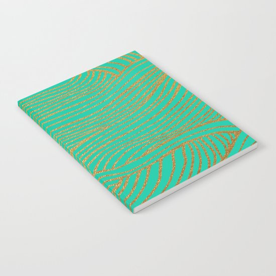 Wind Gold Turquoise Notebook