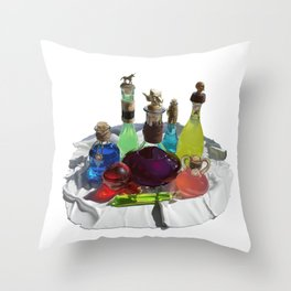 Wizard's Potions Throw Pillow