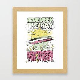 Remember The Day Framed Art Print