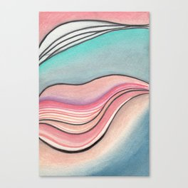 Pastel Marble Canvas Print