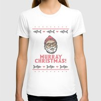 bill murray T-shirts featuring Murray Christmas! by nino benito