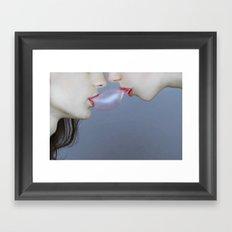 Double bubble Framed Art Print