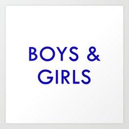 Boys & Girls Art Print