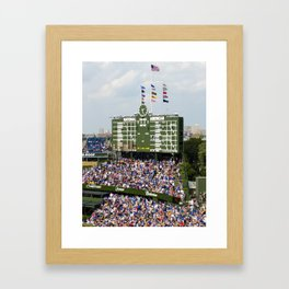 Wrigley Field Bleachers Framed Art Print