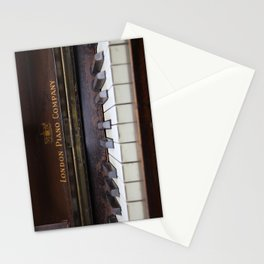 Piano keys Old antique vintage music instrument Stationery Cards