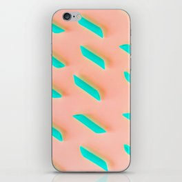 Neon Abstract Pasta Noodles Pattern (Color) iPhone Skin