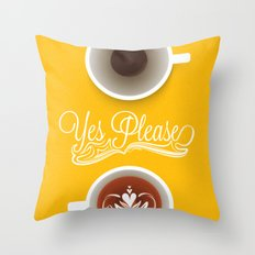 Yes Please Throw Pillow