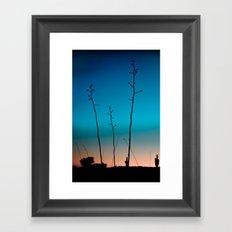 Arizona Desert Sunset  Framed Art Print