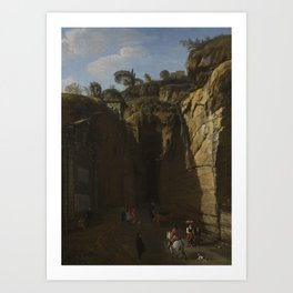 Gaspar van Wittel, called Vanvitelli AMERSFOORT 1652 - 1736   A VIEW OF THE GROTTO AT POZZUOLI WITH Art Print