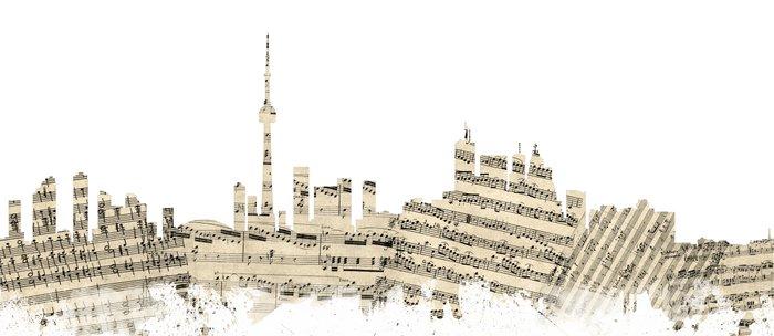 Toronto Canada Skyline Sheet Music Cityscape Coffee Mug
