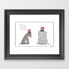 Election  Framed Art Print