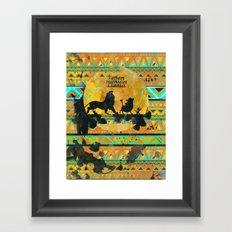 Timon, Pumbaa & Simba. Framed Art Print