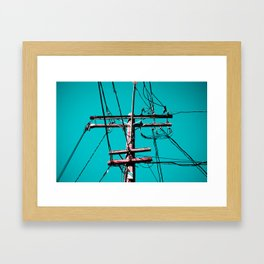 electric avenue Framed Art Print