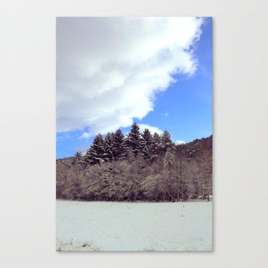 Christmas forrest Canvas Print