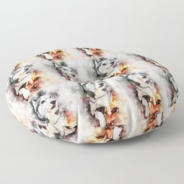 Tika'ani our Siberian Husky Floor Pillow