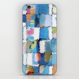 whale in colorful blues iPhone Skin