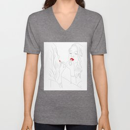 bathroom mirror Unisex V-Neck