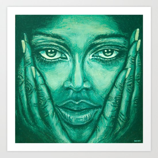 look at me-green Art Print