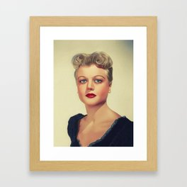 Angela Lansbury, Hollywood Legend Framed Art Print