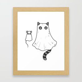 Cat Ghost & Mouse Ghost – Nightmare Framed Art Print