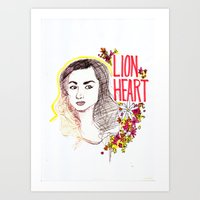 allison argent Art Prints featuring Queen Argent by Grit Spit and a Whole Lot of Duct tape