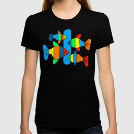 4 Fish - Black lines T-shirt