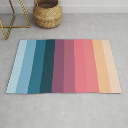 Classic Polychrome Retro Stripes Rug