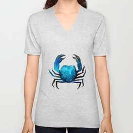 Cerulean blue Crustacean Unisex V-Neck