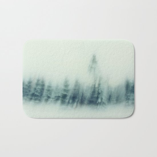 cold winter woods Bath Mat