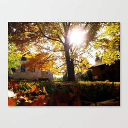 Fall at Notre Dame Canvas Print
