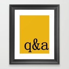 Q&A Framed Art Print