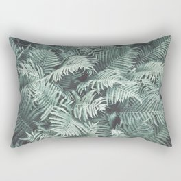 Fern Patten Turquoise Texture Rectangular Pillow