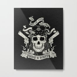 GnR - Not In This Lifetime Tour (Axl) Metal Print