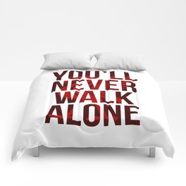 You Never Walk Alone Liverpool Poster Comforters