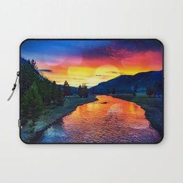 Sunset at Yellowstone Laptop Sleeve