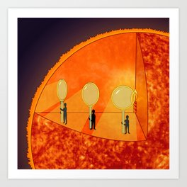 Inner Workings of the Sun Art Print