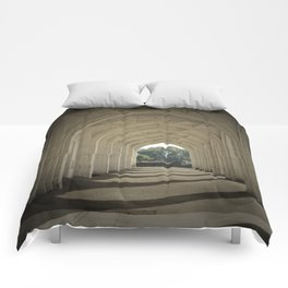 Arched colonnade Comforters
