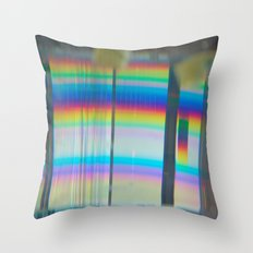 Abstract with rainbow Throw Pillow