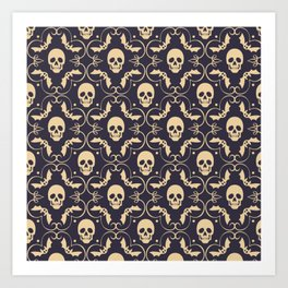 Happy halloween skull pattern Art Print