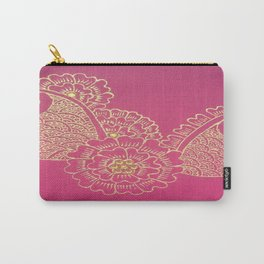 Gold Paisley  Carry-All Pouch
