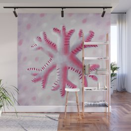 Purple Pink Soft Snowflake Wall Mural