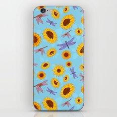 Sunflowers & Dragonflies iPhone & iPod Skin