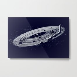 The whole idea of music from the beginning of time was for people to be happy Metal Print
