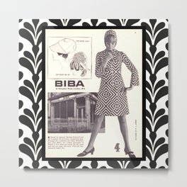 1970s Fashion - A Page from Biba Newspaper Metal Print