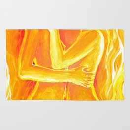Flames of love and passion Rug