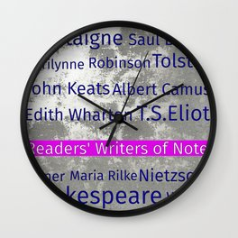 The Reader's Writers of Note Wall Clock